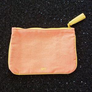 [ipsy] ORANGE CANVAS TASSEL Cosmetics Makeup Bag